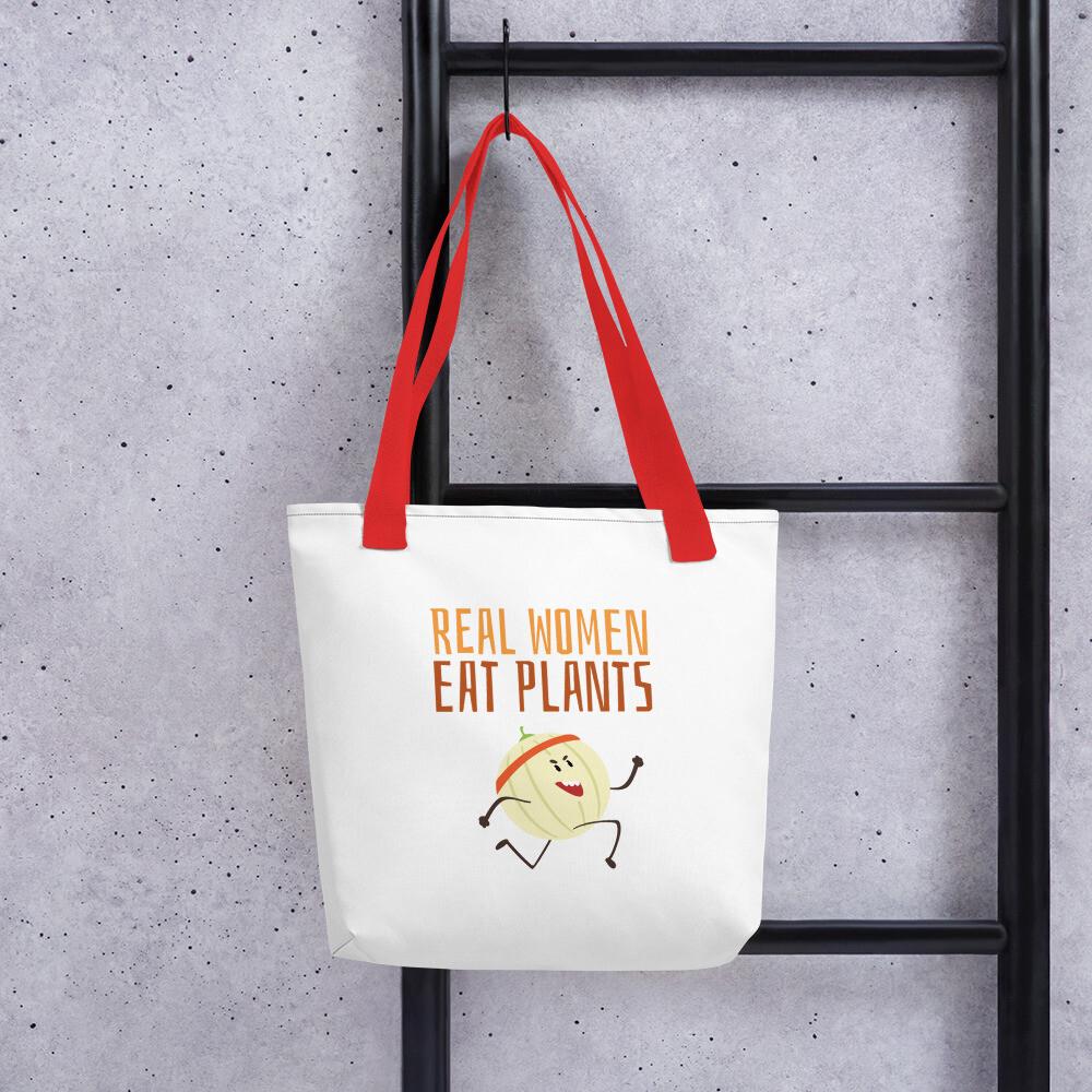 Real Women Eat Plants Tote bag Cantaloupe