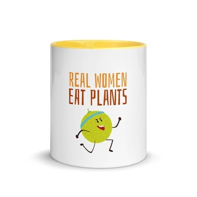 Real Women Eat Plants Mug with Color Inside Muskmelon