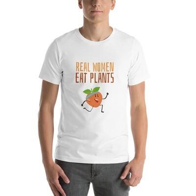 Real Women Eat Plants Short-Sleeve Unisex T-Shirt Peach