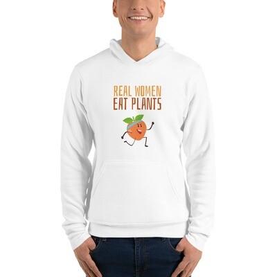 Real Women Eat Plants Unisex hoodie Peach