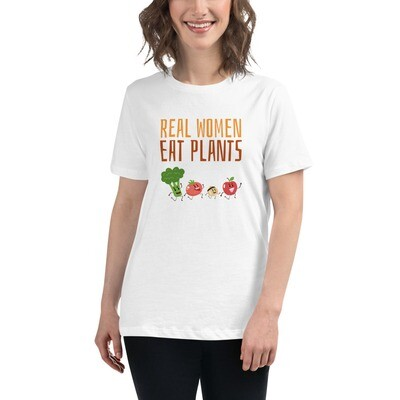 Real Women Eat Plants  Women's Relaxed T-Shirt All Veggies