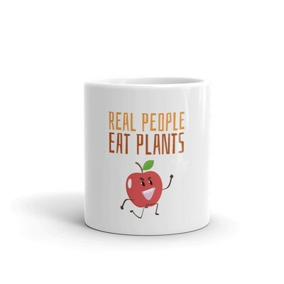 Real People Eat Plants Glossy Mug Apple