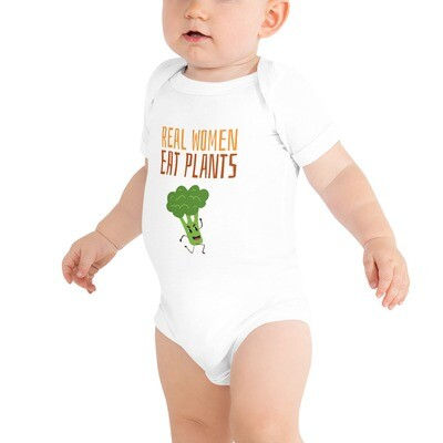 Real Women Eat Plants Baby Bodysuits Broccoli