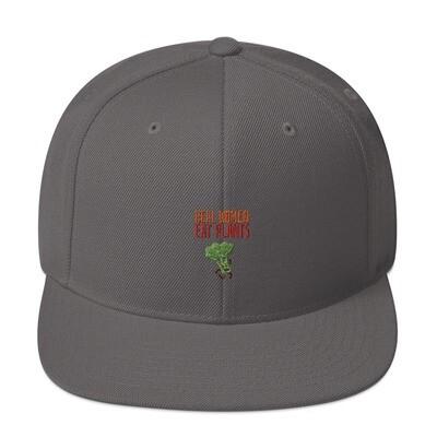 Real Women Eat Plants Snapback Hat Broccoli