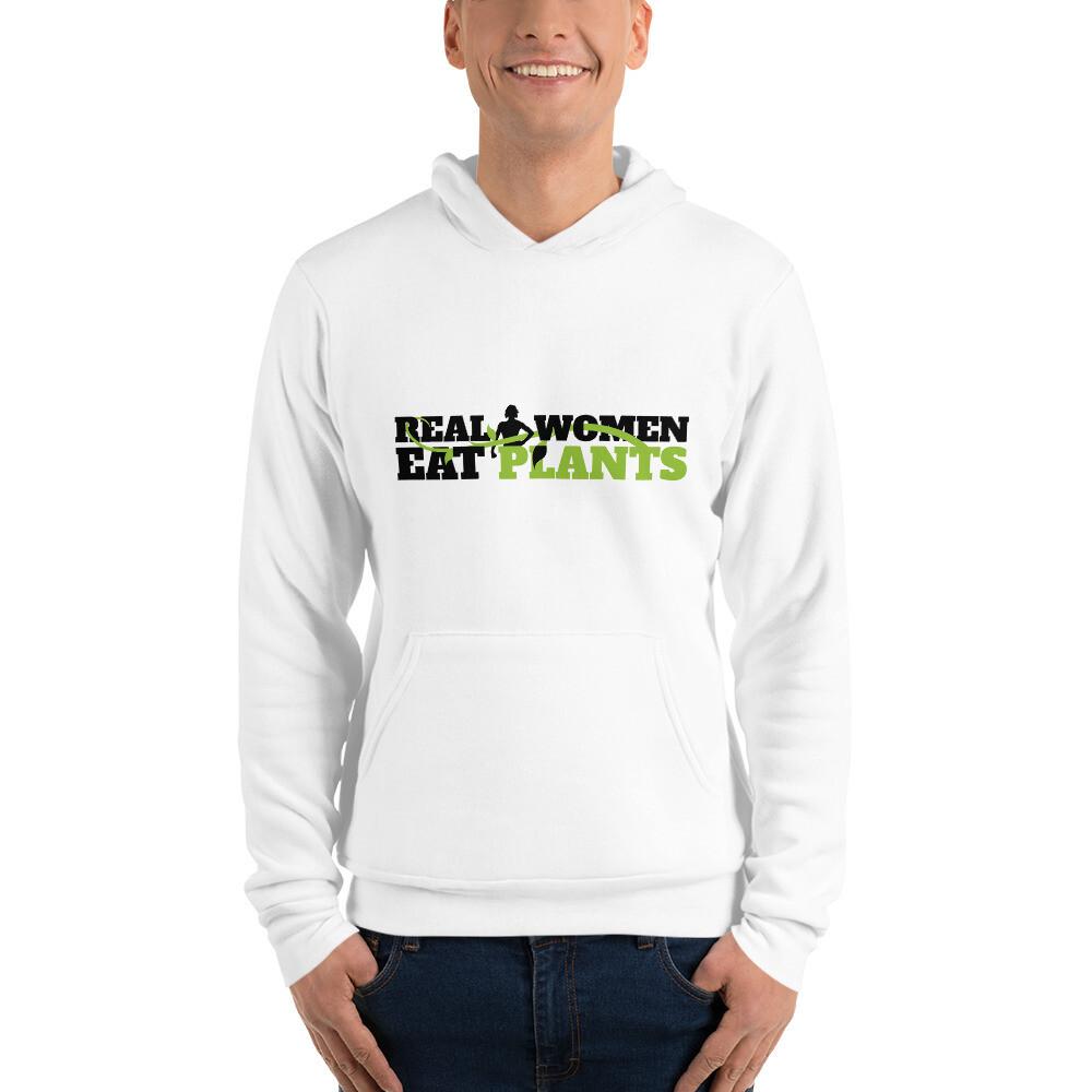 Real Women Eat Plants Unisex hoodie Logo
