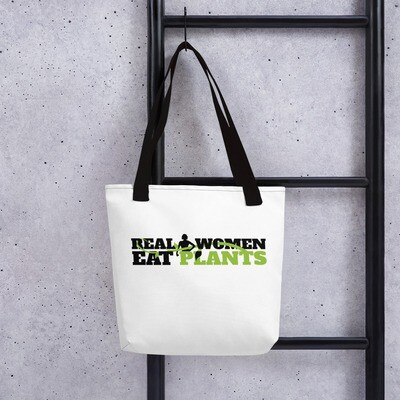 Real Women Eat Plants  Tote bag Logo