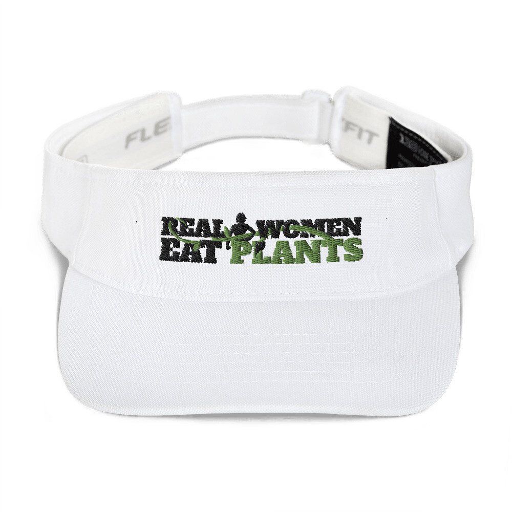 Real Women Eat Plants  Visor hat Logo