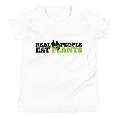 Real People Eat Plants Youth Short Sleeve T-Shirt Logo