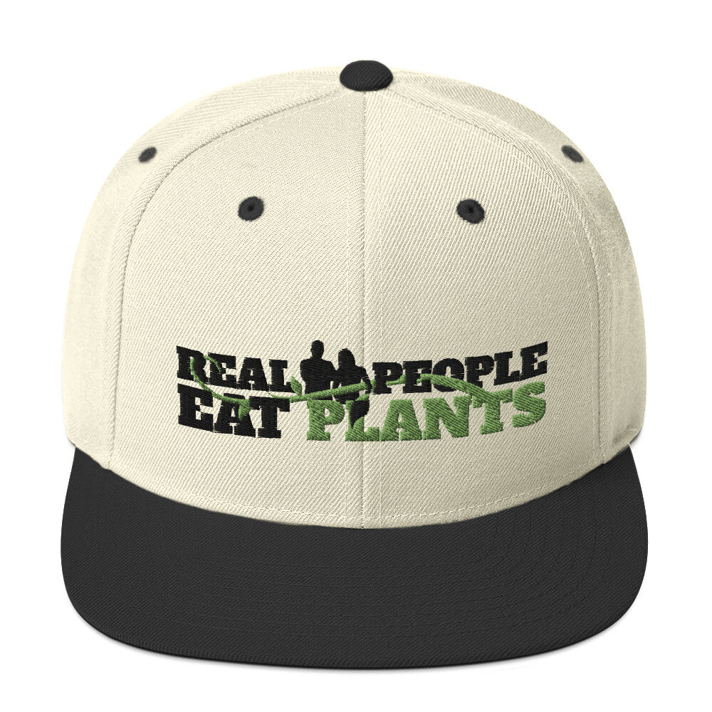 Real People Eat Plants Snapback Hat Logo