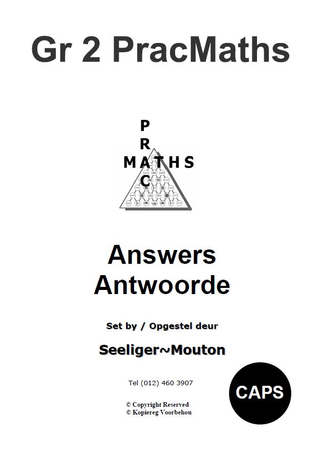 Gr 2 Prac Maths Answers/ Antwoorde