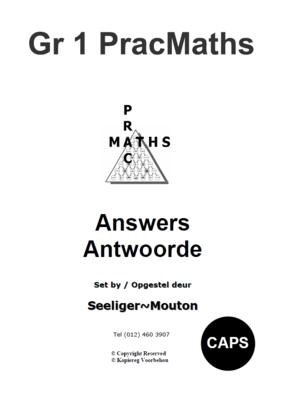 Gr 1 Prac Maths Answers/ Antwoorde