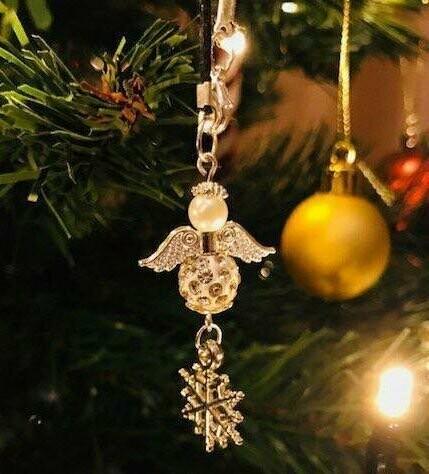 Angel And Snowflake Christmas Tree Decoration