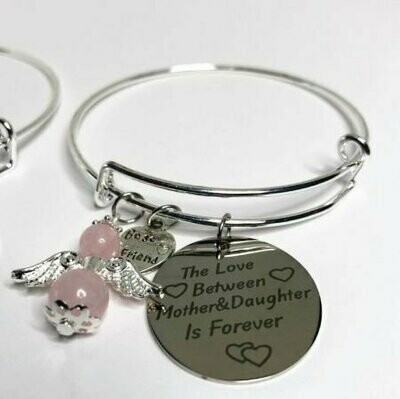 The Love Between A Mother And Daughter Charm Bracelet