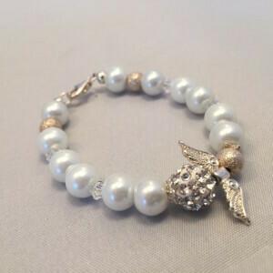 Swarovski Crystal Communion Angel Bracelet