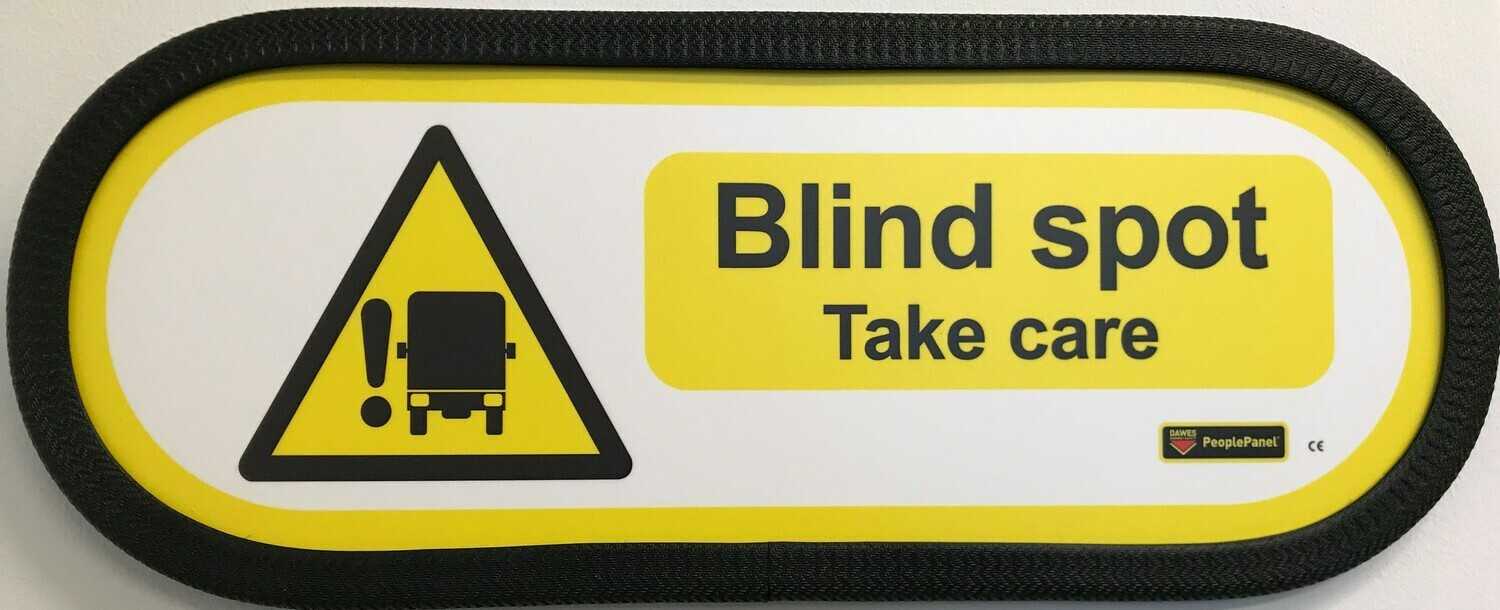 Blind Spot Sign Full Horizontal