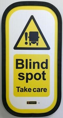 Blind Spot Sign Full Vertical