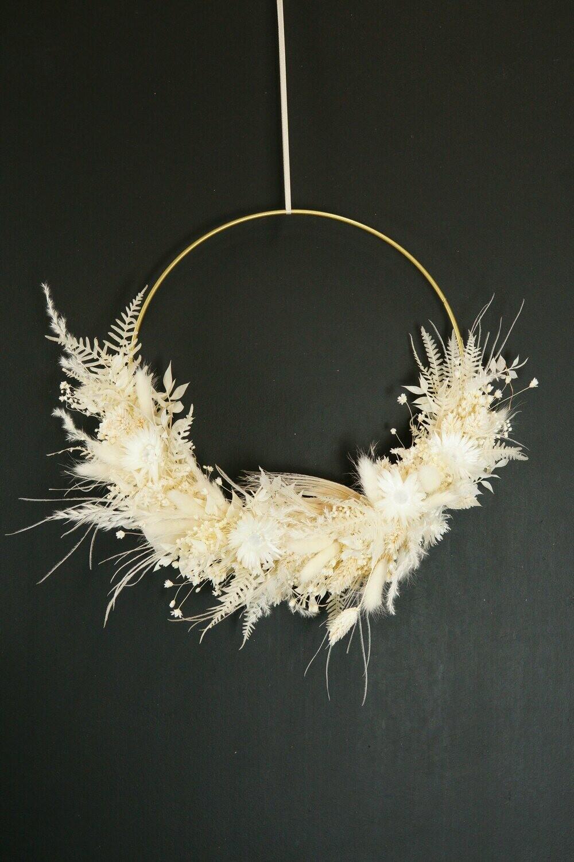 White Dream Small   Trockenblumen Loop