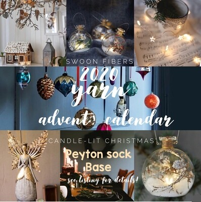 Peyton Sock, Advent Yarn Calendar 2020, Preorder ships Oct/ early Nov