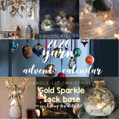 Sparkle Sock Advent Yarn Calendar 2020, preorder, deliver Oct-Nov