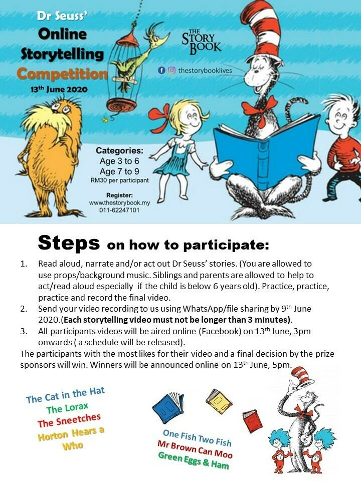 Dr Seuss' Online Storytelling Competition