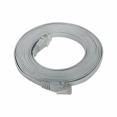 Patch Cord Flat Cable RJ45 Flexível Cat6 3m Cinza