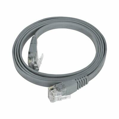 Patch Cord Flat Cable  RJ45 Flexível Cat6 1m Cinza