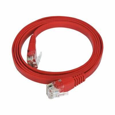 Patch Cord Flat Cable RJ45 Flexível Cat6 1m Vermelho