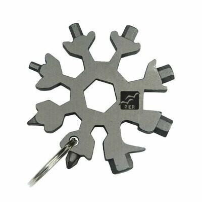 Chaveiro Multifunção Chaves de Fenda Phillips boca e Allen - Ferramenta Snowflake