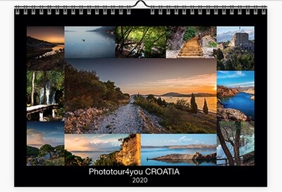 Landscapes of Croatia Calendar 2020