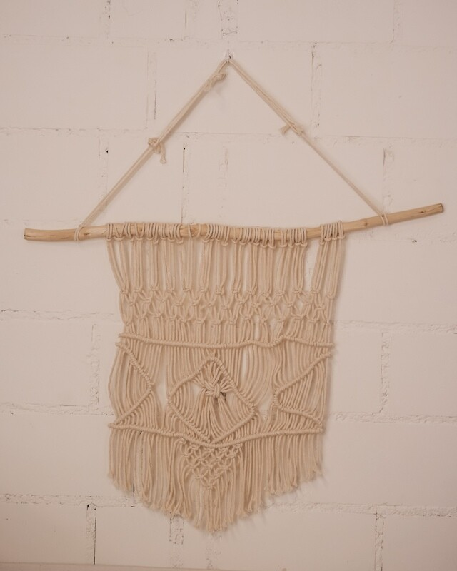 Macramee Wall hanging with wooden stick