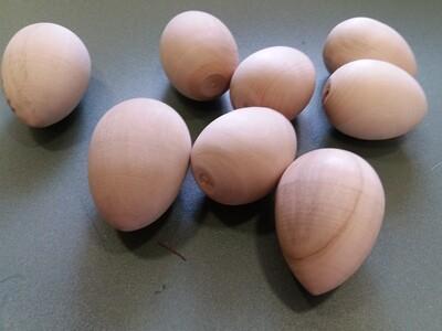 Яйцо деревянное, 6.5х4.5см