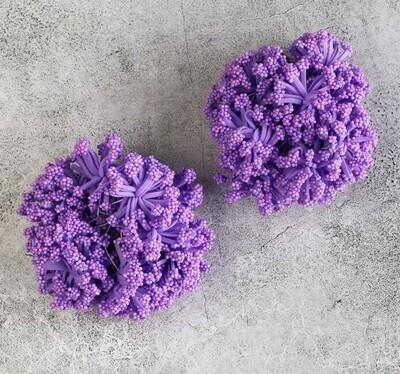 Круглые тычинки для цветов, сиреневый Бумага, текстиль