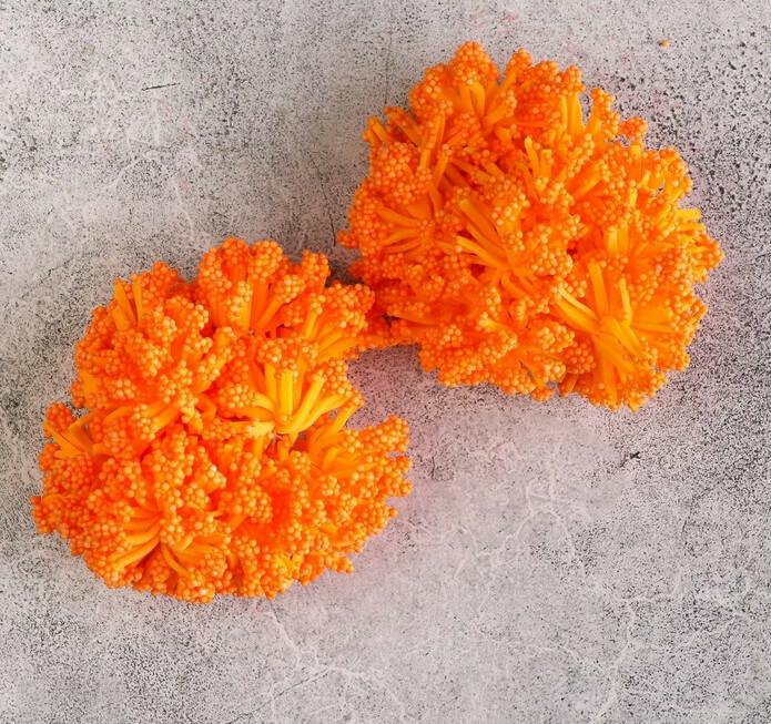 Круглые тычинки для цветов, оранжевый Бумага,текстиль