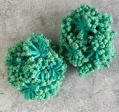 Круглые тычинки для цветов, зелёный Бумага текстиль