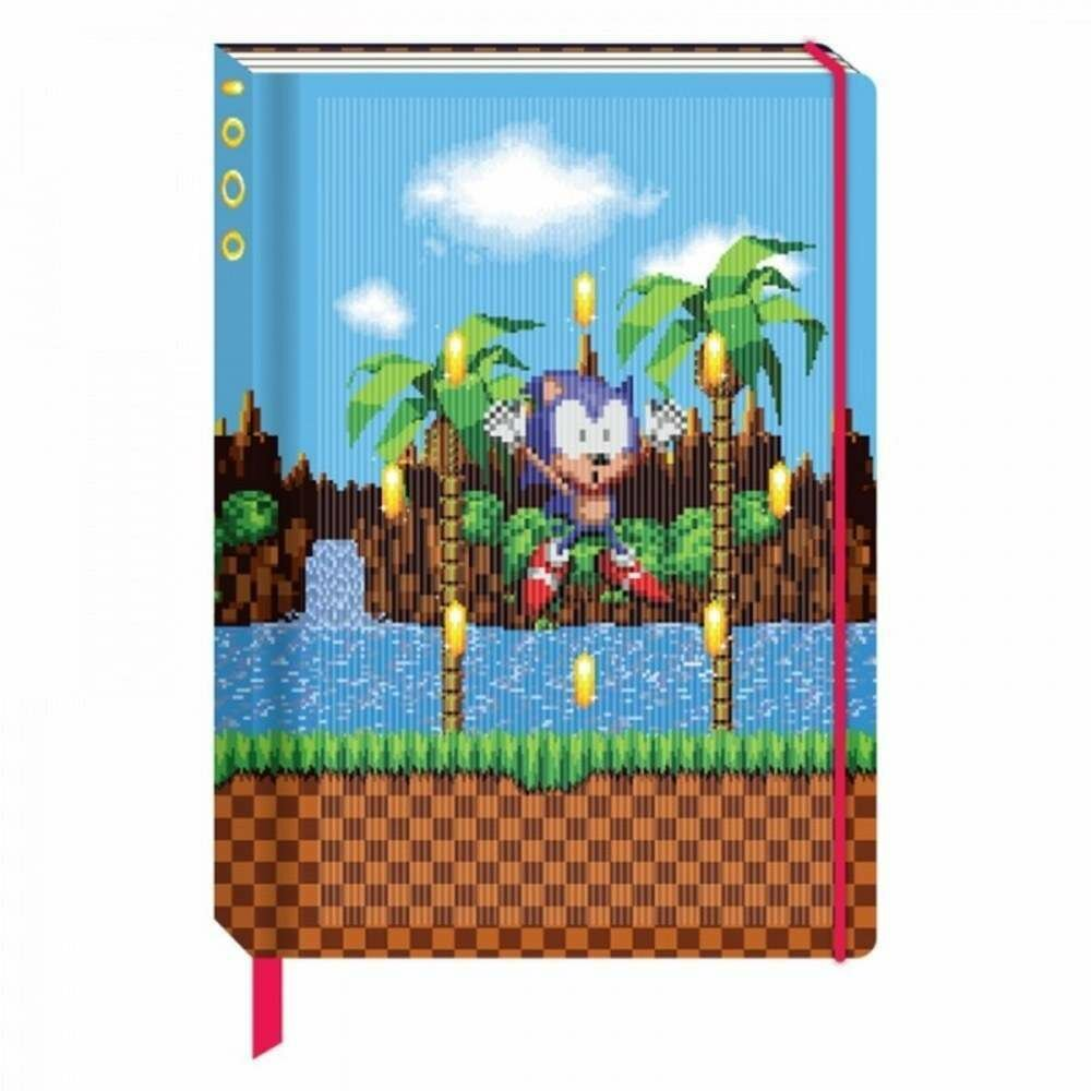 Cuaderno 3D Lenticular SONIC The Hedgehog Rings
