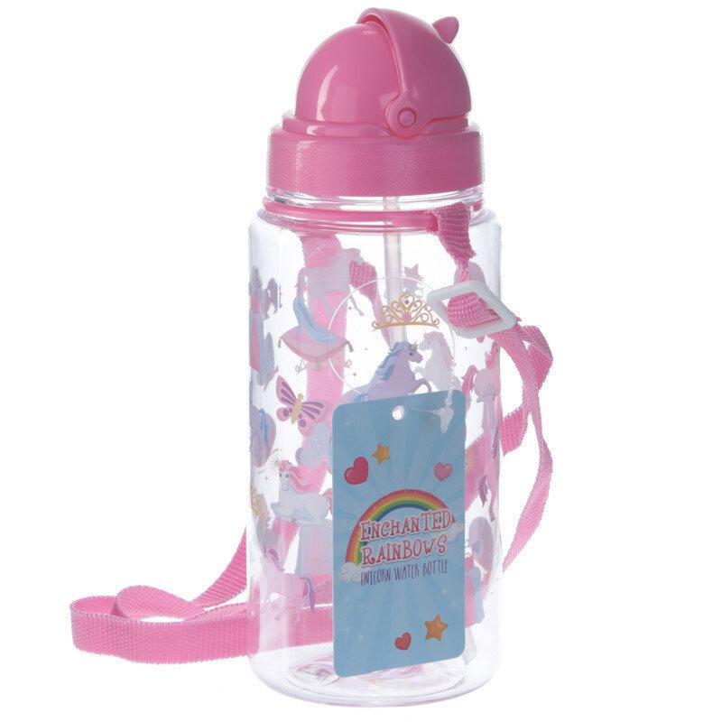 Botella con Pajita Unicornios