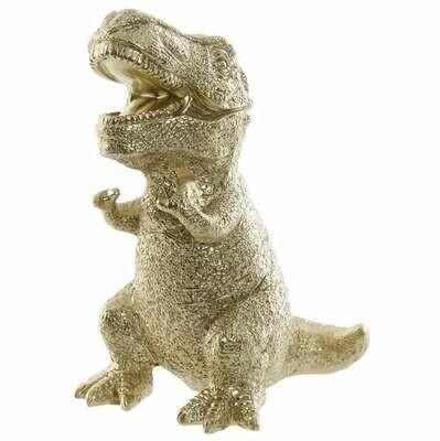 Hucha Dinosaurio T-Rex Dorado