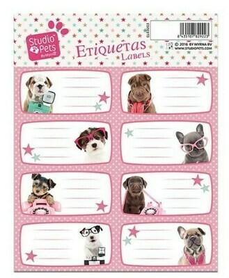 Etiquetas Escolares Cachorritos