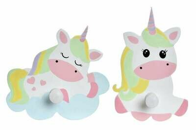 Set 2 Percheros Unicornio