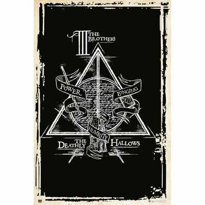 Poster Harry Potter Deathly Hallows Symbol