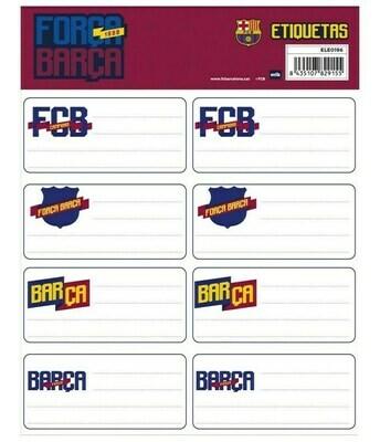 Etiquetas Adhesivas Fc Barcelona