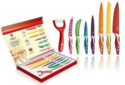 Set 7 cuchillos y pelador Royalty Line