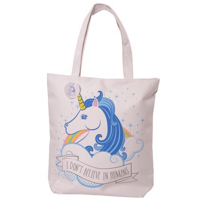 Bolso Unicornio con Cremallera 100% Algodón