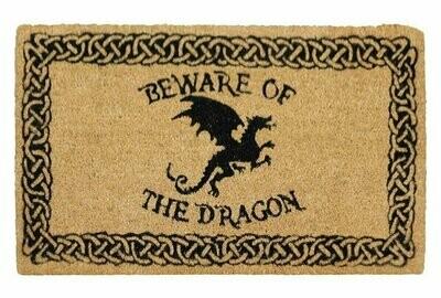 Felpudo Cuidado con el Dragón