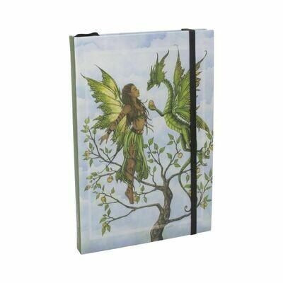 Cuaderno Hada con Dragón sobre Árbol Vida
