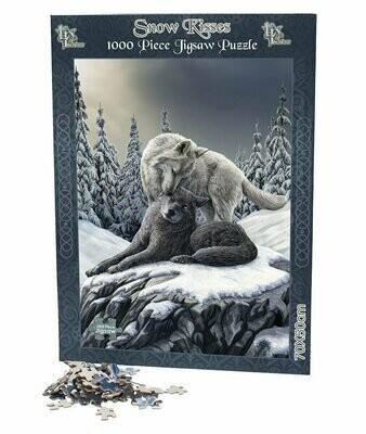 Puzzle Lobos Besos en la Nieve