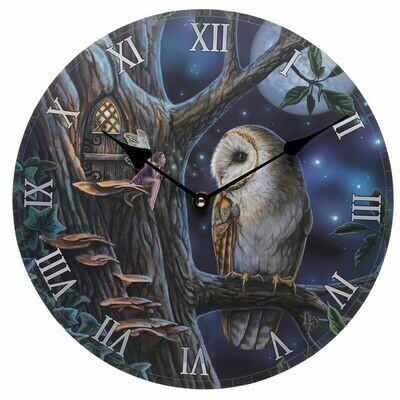Reloj Cuento Hada y Búho