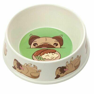 Comedero Mascotas Bambú Perro Carlino