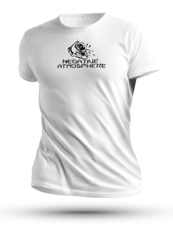 Unisex White Negative Atmoshpere T-shirt from