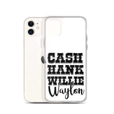 Cash Hank Willie Waylon iPhone Case